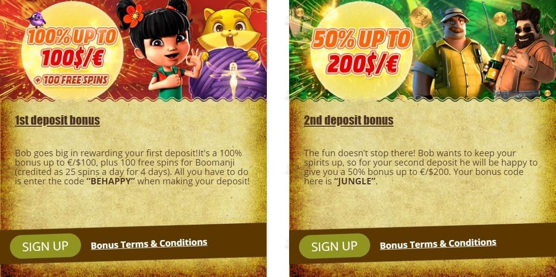 Bob Casino Bonuses