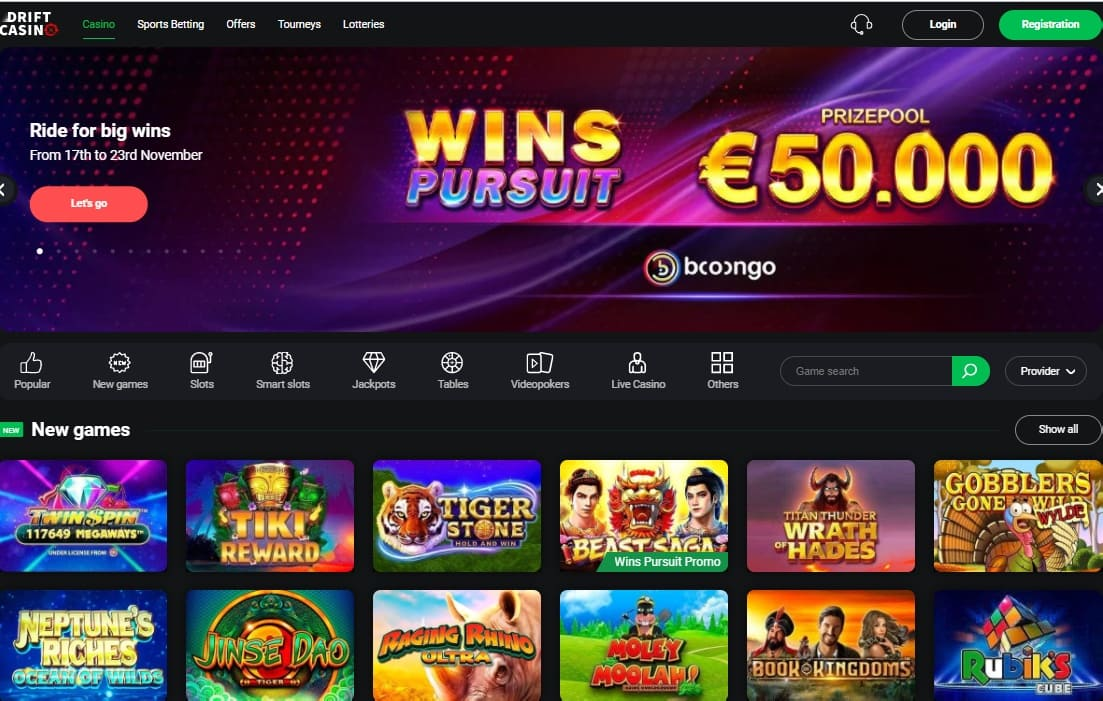 Drift Casino Review