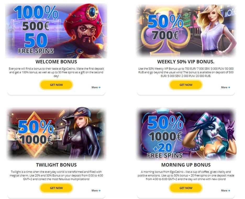 Ego Casino Bonuses