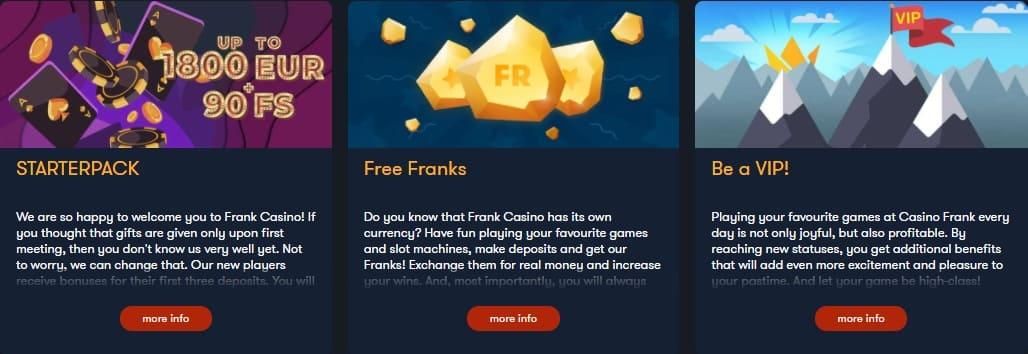 Frank Casino Bonuses