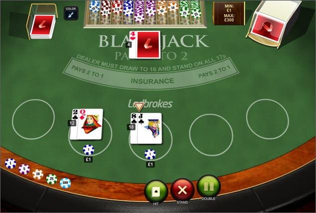 Play Blackjack Peek