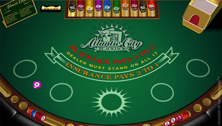 Atlantic City Blackjack Table
