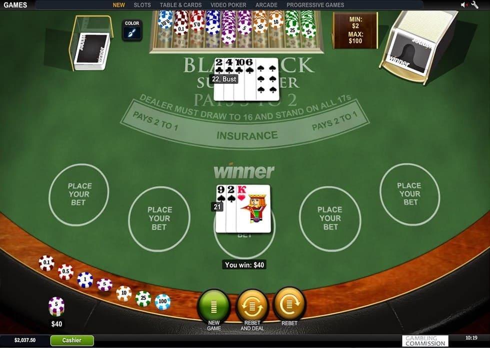 Blackjack Surrender Table