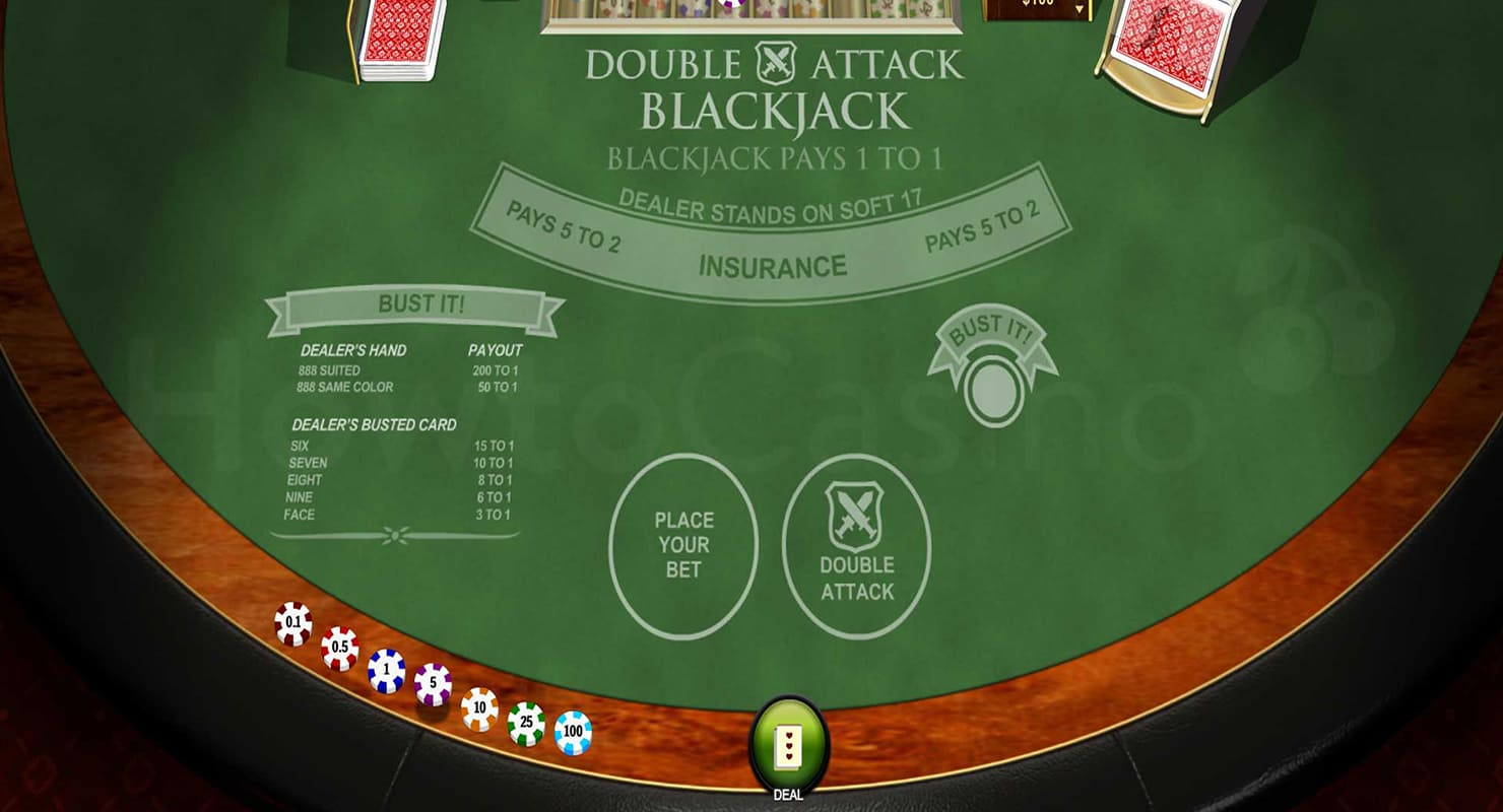 Double Attack Blackjack Table