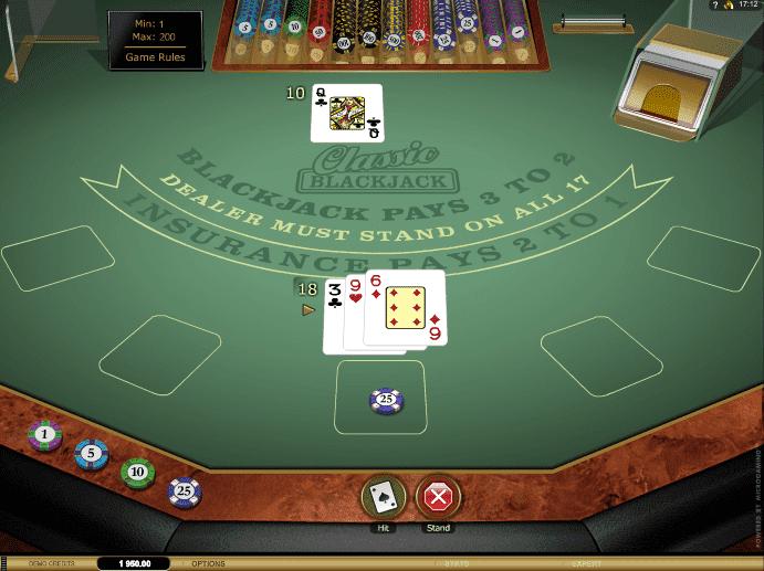 Classic Blackjack Gold Table