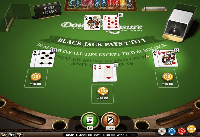 Double Exposure Blackjack Netent