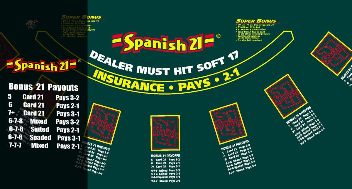 Spanish 21 Blackjack Table