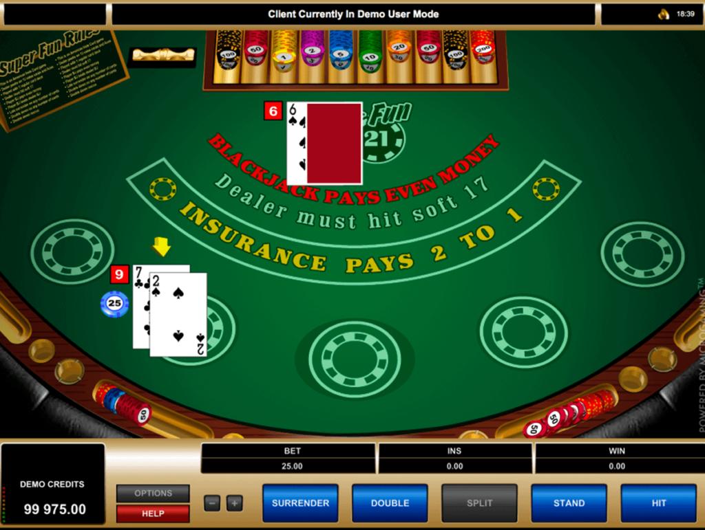 Super Fun 21 Blackjack Table