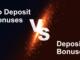 No Deposit Bonus vs. Deposit Bonus