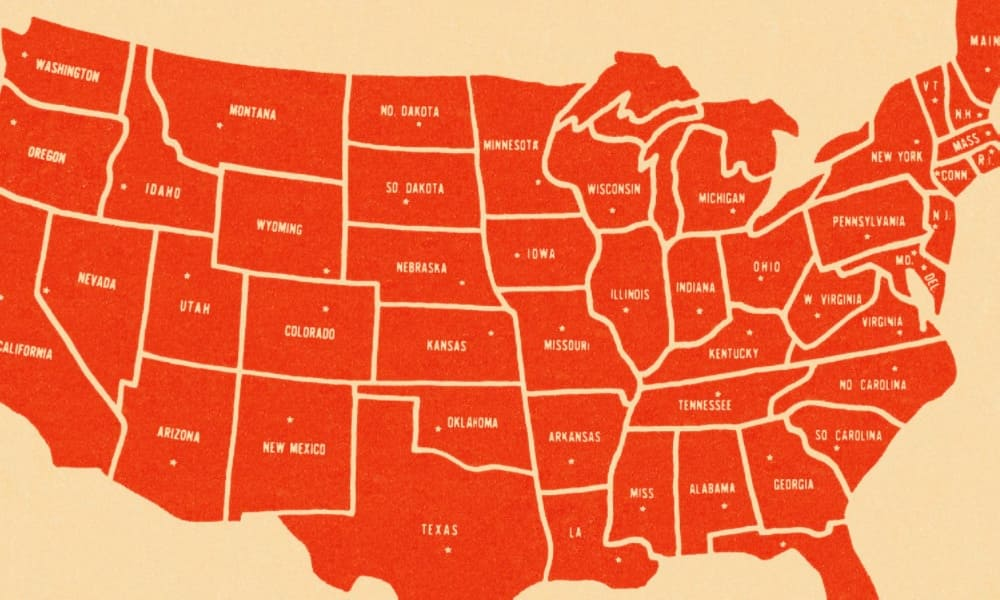 Gambling addicted US states