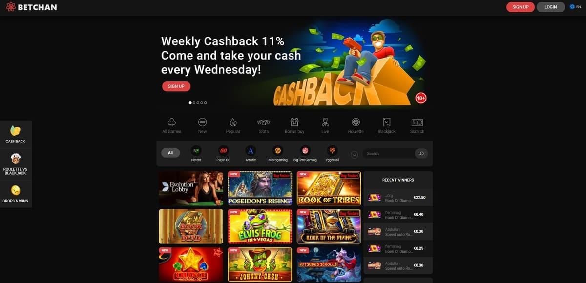 Betchan Casino Website