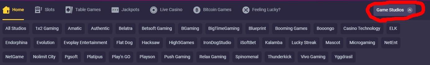 Bitstarz Casino Software Providers