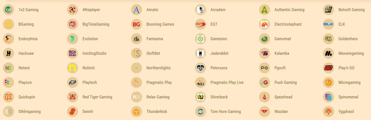 Cookie Casino Software Providers