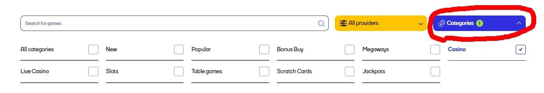Cat Casino Games Categories