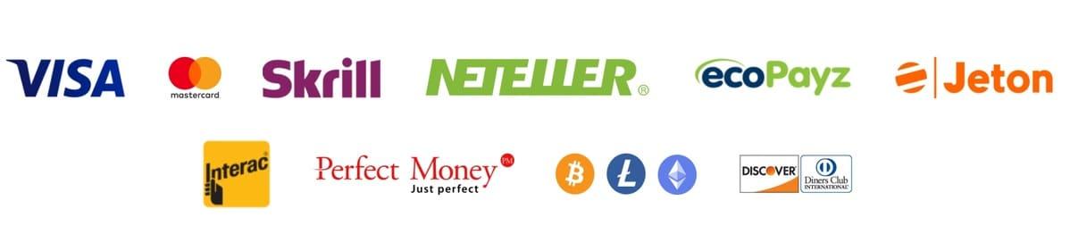 20Bet Payment methods