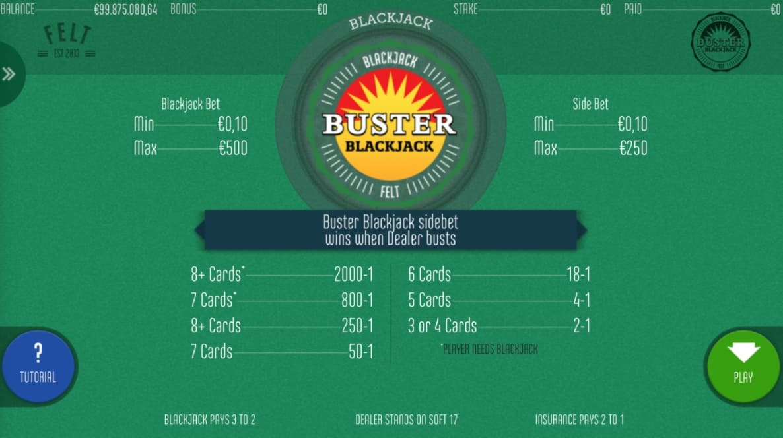 Play Buster Blackjack