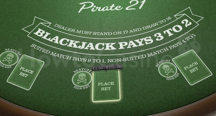 Pirate 21 Blackjack Table