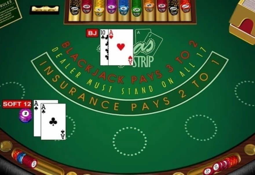 Vegas Strip Blackjack Table